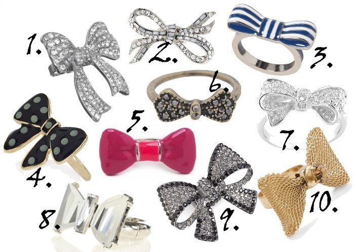Dainty Blings: Bow Rings Under $25!