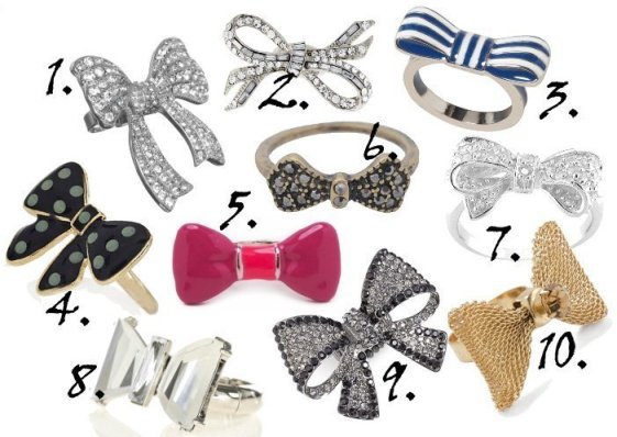 Dainty Blings: Bow Rings Under $25! 1