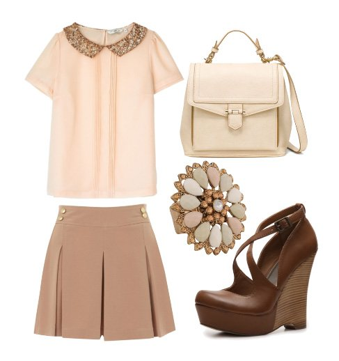 Dainty Nude and Pink Blush 5-Piece Look for $175 8
