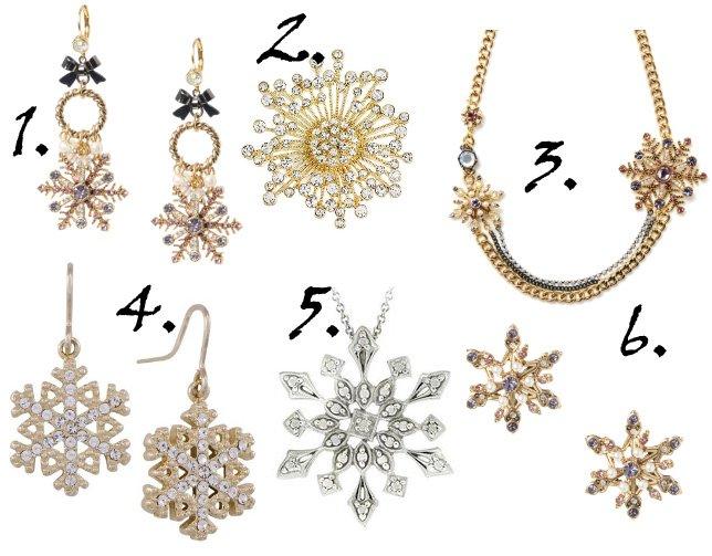 Sparkly Winter Picks: Crystal Snowflake Jewelry Under $50