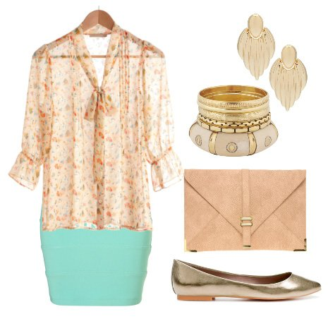 Daily Outfit Under $150: Tiffany Blue Apricots 1