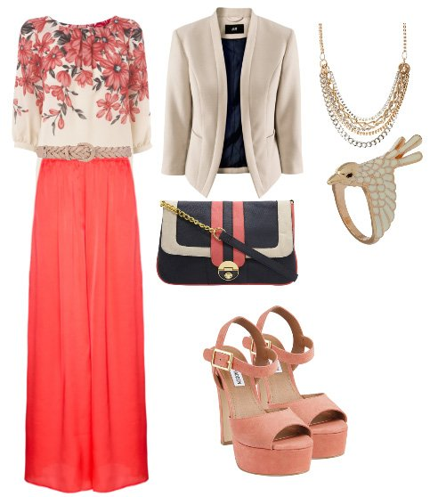 Daily Outfit: Alternative Work Day in Coral and Florals 7