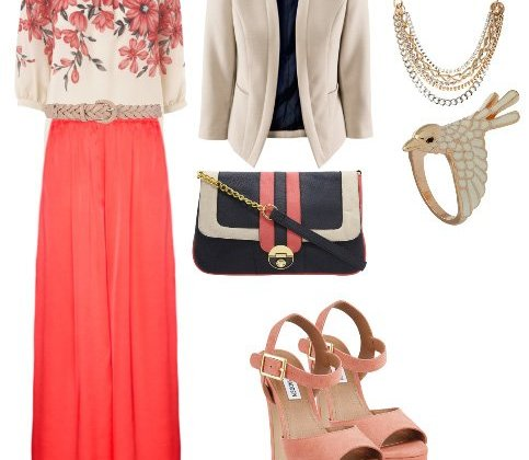 Daily Outfit: Alternative Work Day in Coral and Florals 2