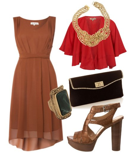 Daily Outfit: Milk Chocolate and Red Chiffon