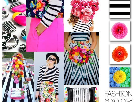 Decor Meets Fashion - Mixing Prints: Desaturated Stripes & Bright Florals 9