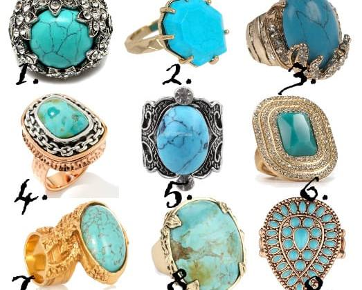 Finger Treats: 9 Turquoise Rings From $5 to $50 4