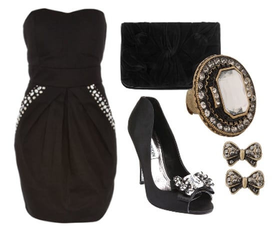 Friday Night Out Outfit Under 70 All Black Dress Look 2 How To