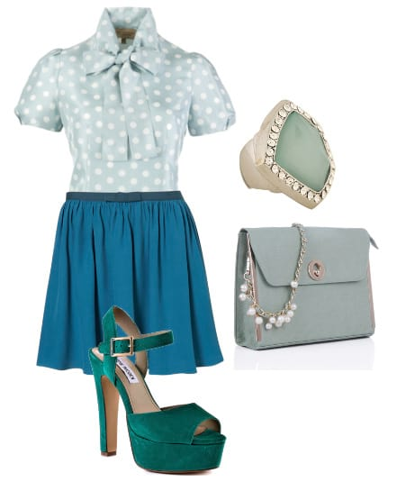 Daily Outfit: LadyLike Elegance in Minty Blues 9