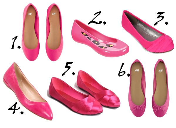Shopping Time: Hot Pink Ballet Flats Under $60 1