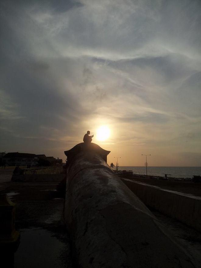 The stunning Cartagena sunset.