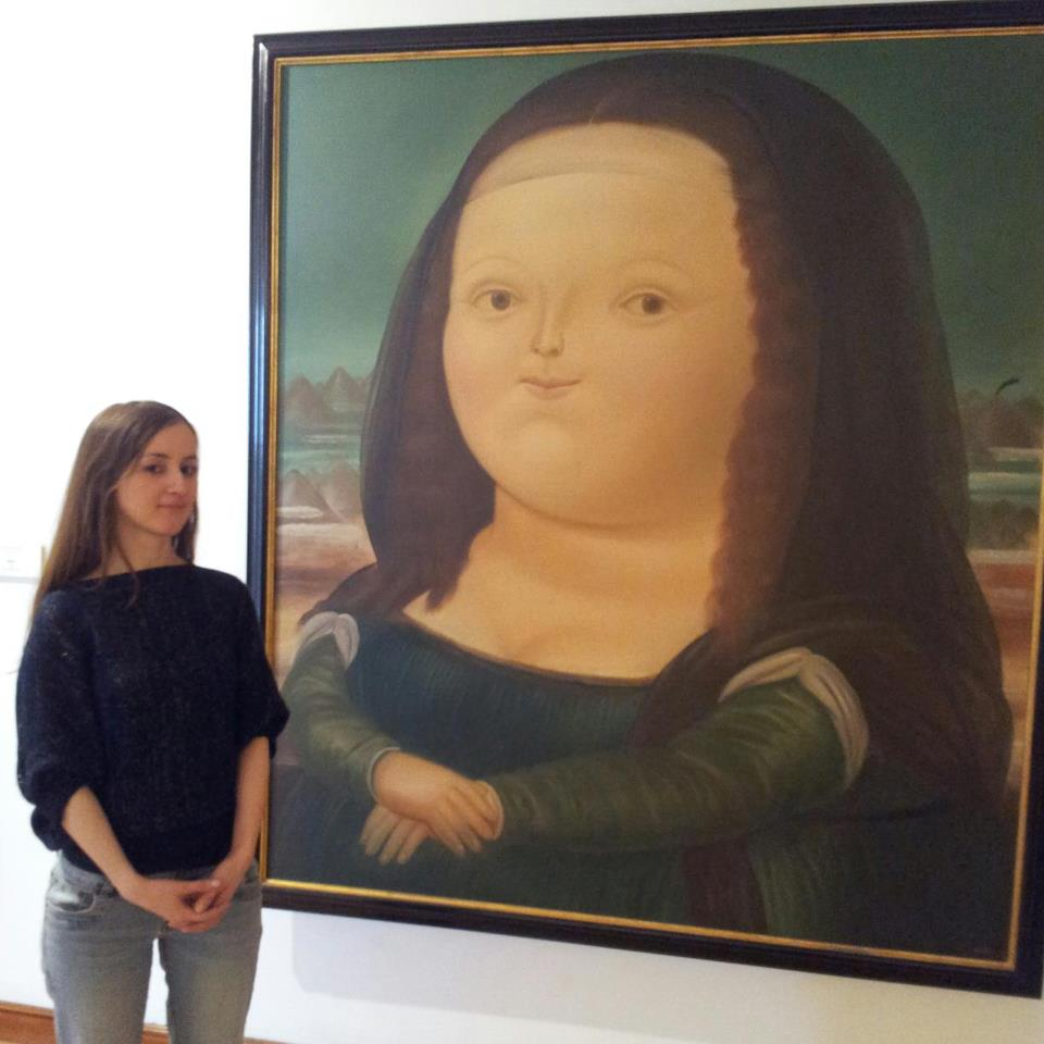 Botero's take on the Mona Lisa