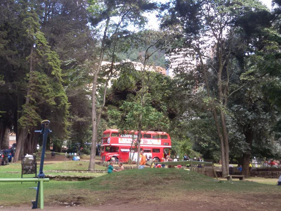 The Museum's garden has its own London bus!
