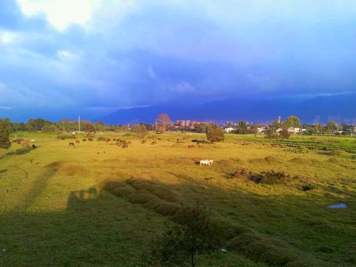 Bogotá: 'cloudy with sunny spells'!