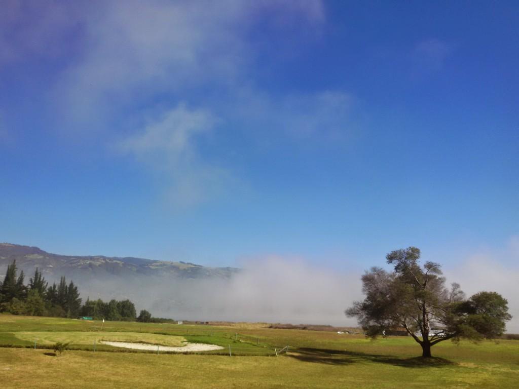 The morning fog clearing from over Lake Sochagota