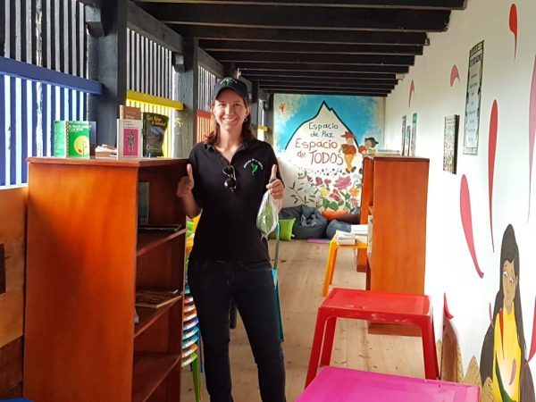 Children's library at the Cerro de Quinini - Coffee farm tour bogota