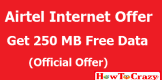airtel 250 mb offer