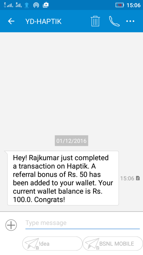 I got this msg after 1 Referral