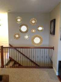 Grouping Mirrors On A Wall - How To Decorate