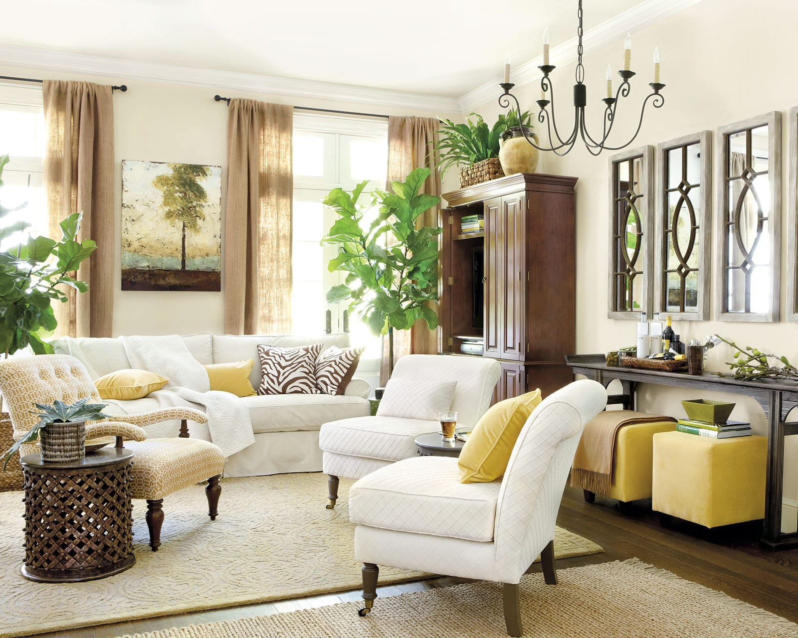 It's likely you and your guests will spend countless hours in this room, discussing and entertaining. 6 Tips for Mixing Wood Tones in a Room - How To Decorate