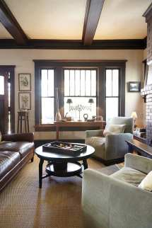 Craftsman Style Home Interiors with Dark Woods