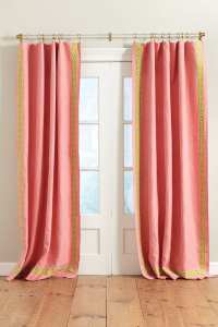 How to Add Tape Trim to Curtain Panels - How To Decorate