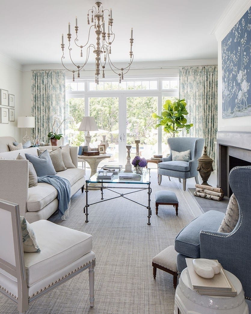 baby bath chair india design and price kate singer's living room at the hamptons showhouse - how to decorate