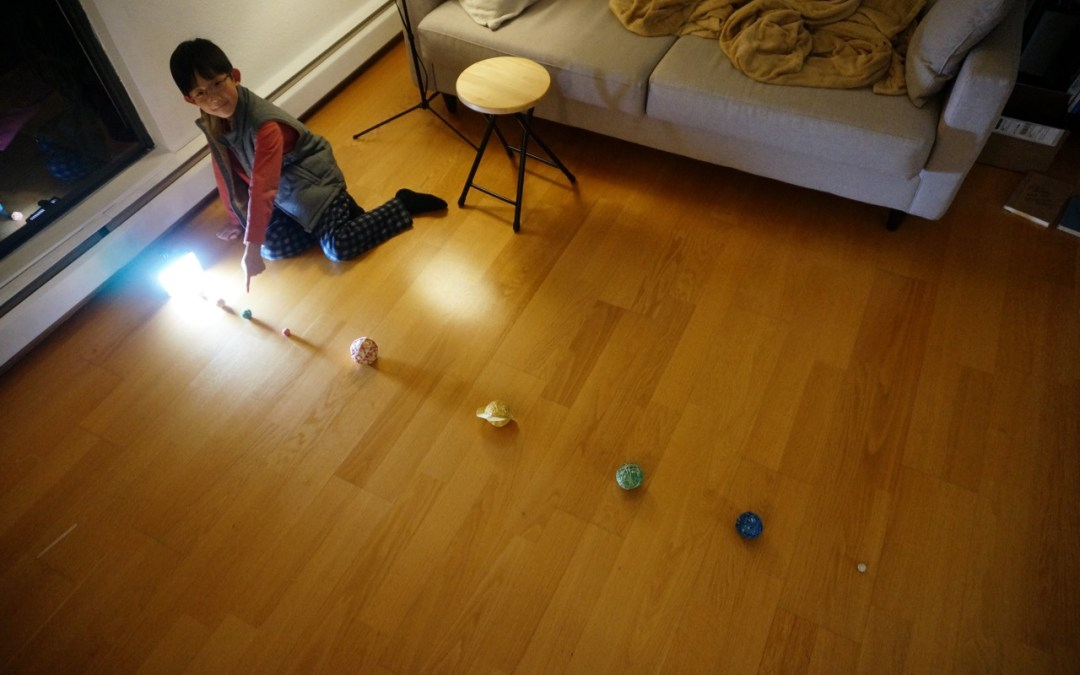 Unschooling Journal February 13, 2018 – Building the Solar System