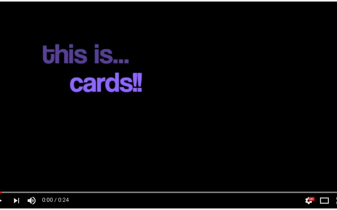 cards!!! another stop motion video