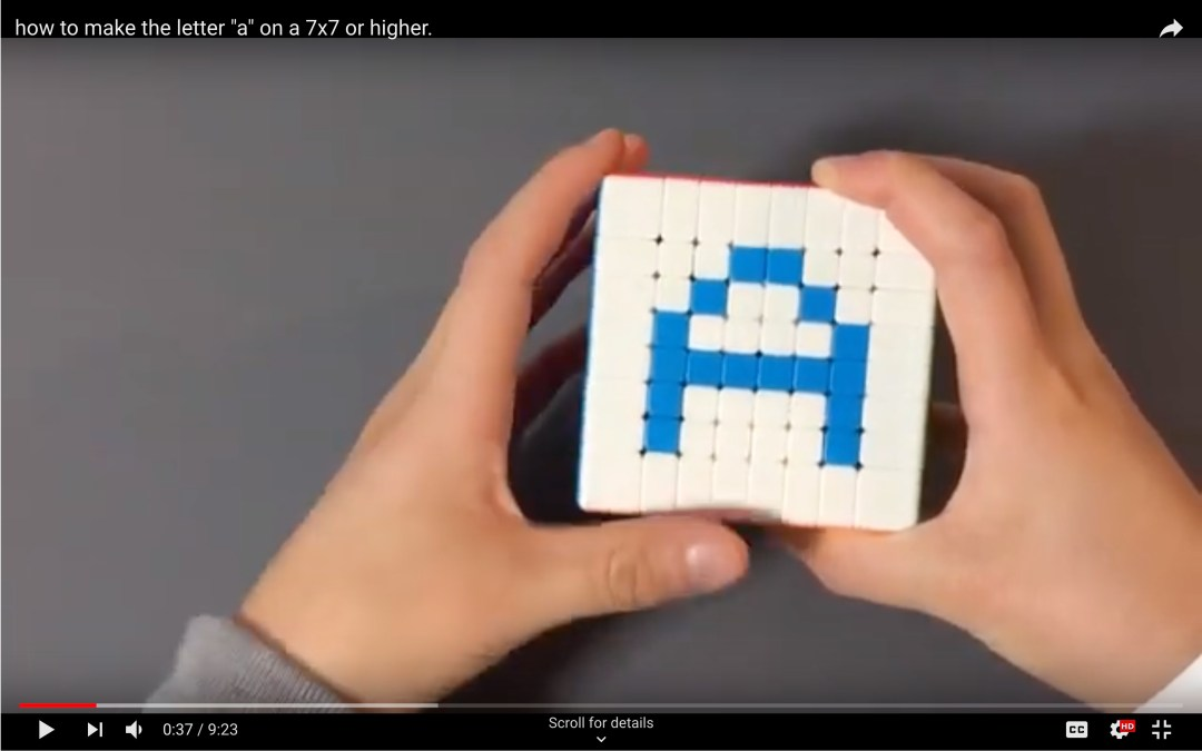 """how to make the letter """"a"""" on a 7×7 or higher (VIDEO)"""