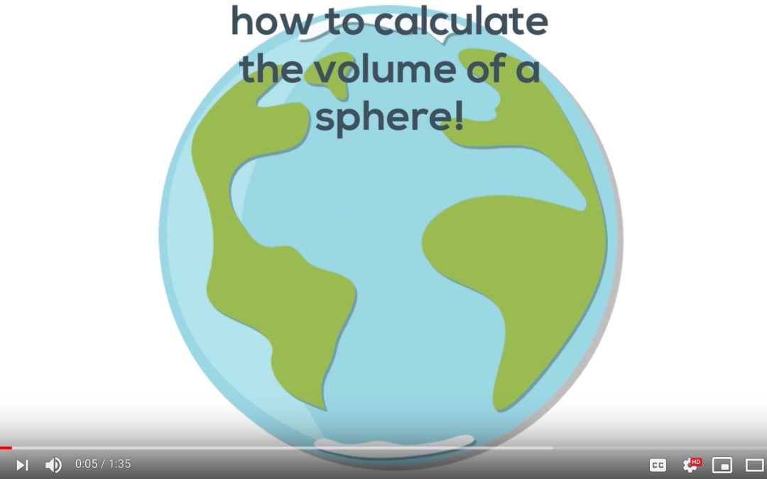 how to calculate the volume of a sphere! [Video]