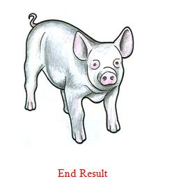 How to draw a piglet/pig