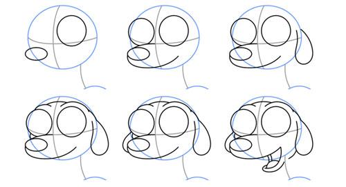 How To Draw Guide Learn How To Draw How To Draw A Cute Puppy