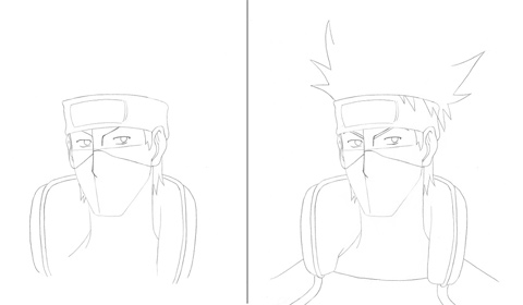 How to draw guide – learn how to draw » Kakashi