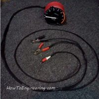 Make a DIY test RPM gauge for under hood diagnostics. RPM mechanic tool.