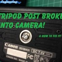 Repair Tripod Mount Broken in Camera