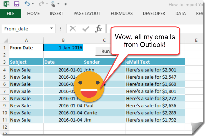 how to add subject column to outlook 2016