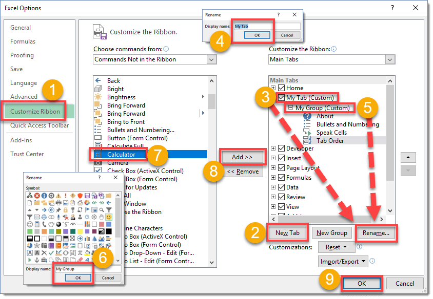 Step-004-Customize-The-Ribbon-Add-Custom-Tabs-And-Groups Command Ribbon