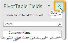 Close-The-PivotTable-Fields-Window 101 Advanced Pivot Table Tips And Tricks You Need To Know
