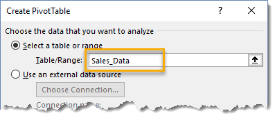 Create-Pivot-Table-Menu-Using-A-Table 101 Advanced Pivot Table Tips And Tricks You Need To Know
