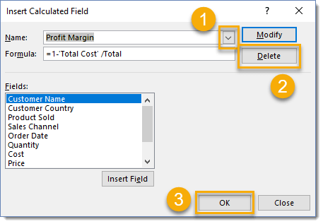 Remove-a-Calculated-Field-from-a-Pivot-Table 101 Advanced Pivot Table Tips And Tricks You Need To Know