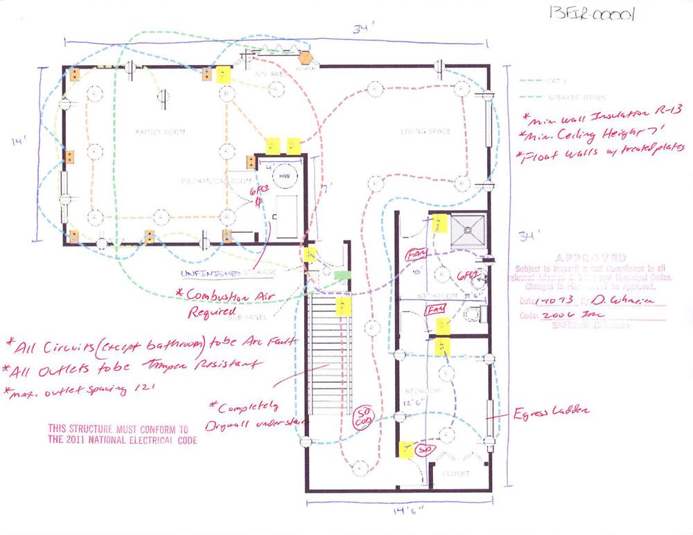electrical plan lighting layout