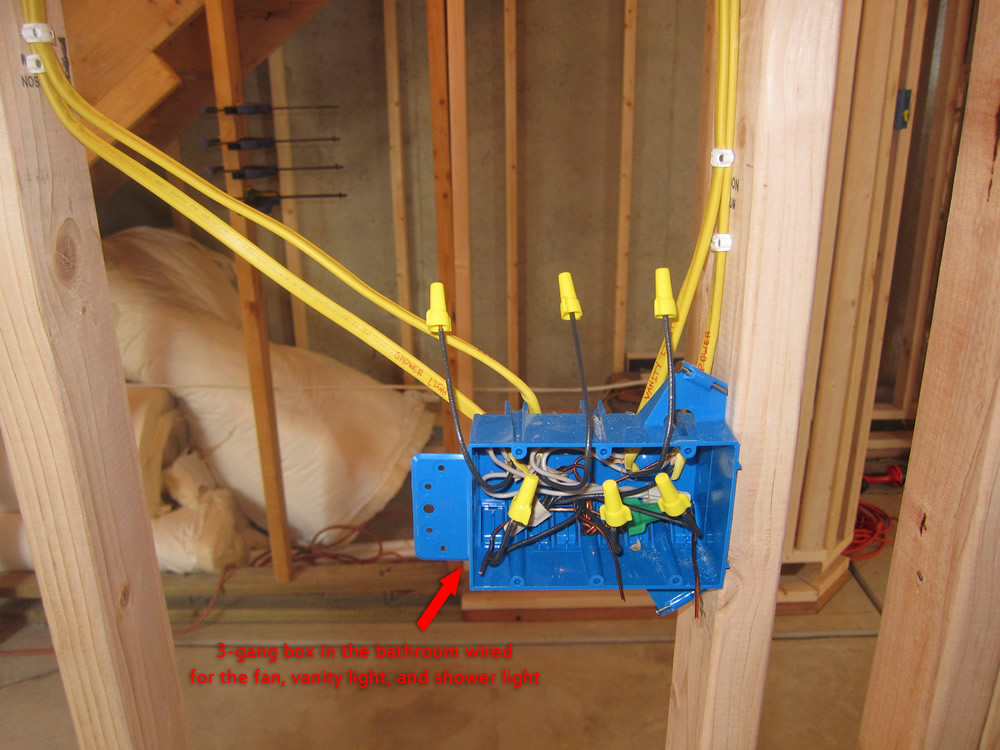 Light Wiring Diagram House How To Finish A Basement Bathroom Before And After Pictures
