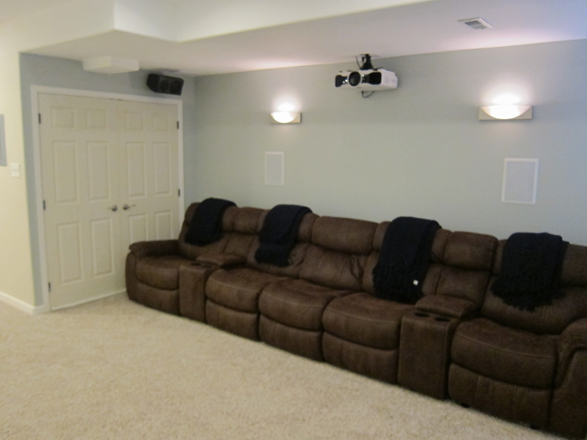 hight resolution of basement home theater
