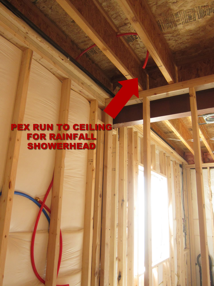 how to finish a basement bathroom pex