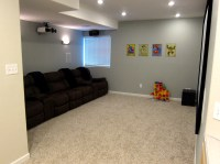 Finish Basement Home Theater - Before and After Pictures