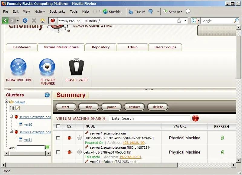 Verwalte mehrere KVM Hosts mit Enomalism2 [Ubuntu 8.10] - Seite 2 von 2 - HowtoForge