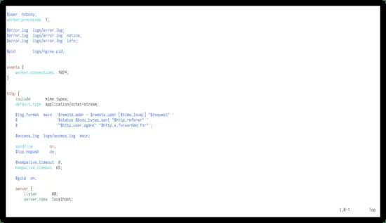 Nginx Syntax highlighting in Vim