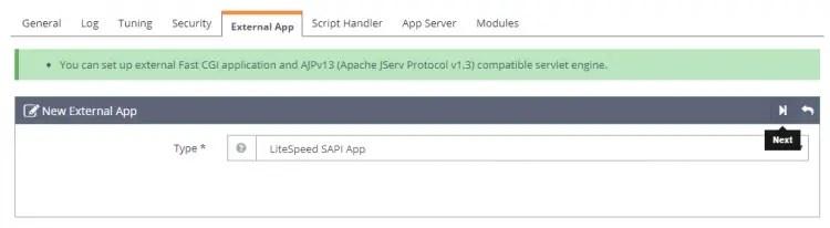 External App Configuration