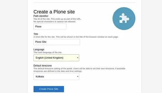 Create a plone site