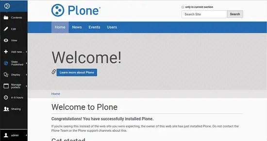 Plone CMS dashboard